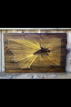 Montana State University String Art   #stringart #cats #bobcats #montanastateuniversity #montana #mt #406 #ironbarkdesigns   www.facebook.com/IronBarkDesigns