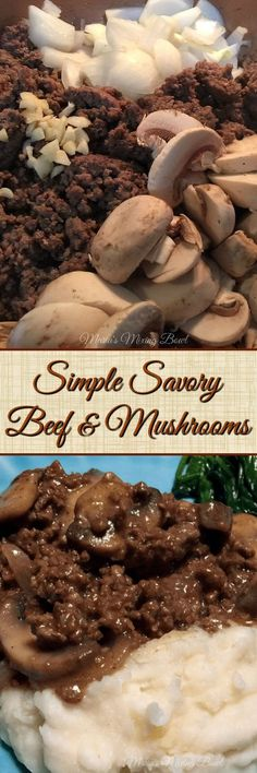 Simple Savory Beef & Mushrooms