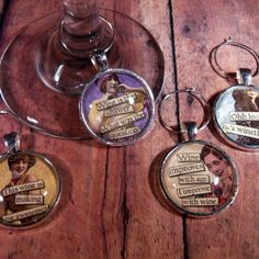 """""""Wine a Little"""" Wine Glass Charms - Set of 4"""
