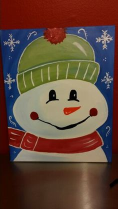 Snowman  Painting With a Twist