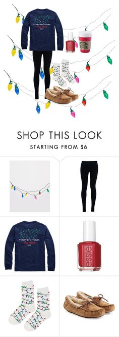 """""""Day 1 Christmas lights"""" by emmaaagildea on Polyvore featuring Temerity Jones, NIKE, Essie, Topshop and UGG Australia"""
