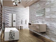 Porcelanosa USA  Cremona Tile  Wavy Ceramic Tile  www.westsidetile.com