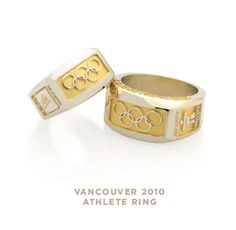 These beautiful gold rings are the U. Olympic team rings for the 2010 Vancouver games! Tanner is proud to design and create these rings.
