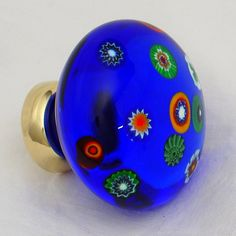 milliefiori glass cabinet knob by Merlin Glass