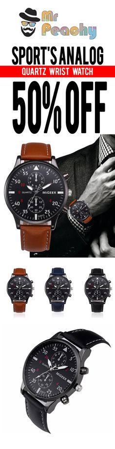 Sport's Analog Quartz Wristwatch - [3 Variants]