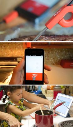 This smart thermometer will give you an incredibly detailed reading while cooking.