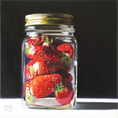 "Daily Paintworks - ""Strawberry Preserves II"" - Original Fine Art for Sale - © Andre Beaulieu"