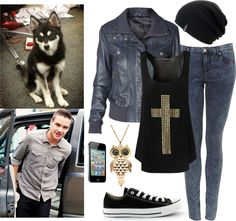 """""""Walking Loki in the Park with Liam"""" by perfectharry ❤ liked on Polyvore"""