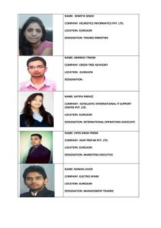 PLACED STUDENT 2012-14 Batch http://www.fisb.in
