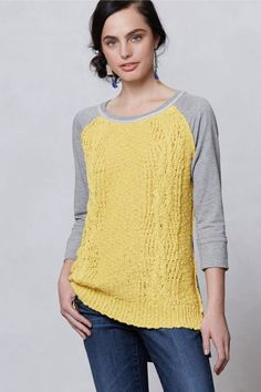 inspiration and realisation: DIY fashion blog: DIY sweater refashion with knit.  I don't like her version of this refashion, but I love her inspiration picture.