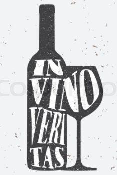 In Vino Veritas, Liquor Shop, Atari Logo, Wine, Logos, Typography, Bottle, Glass, Letterpress