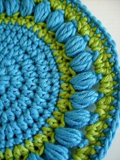 Easy PDF Crochet Pattern  Round pot holder or wash by CasaDiAries