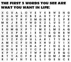 最初に見つけた英単語3つがあなたが人生でほしいものです