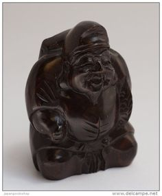 "Wooden Statuette "" Ebisu "" http://www.japanstuff.biz CLICK THE FOLLOWING LINK TO BUY IT ( IF STILL AVAILABLE ) http://www.delcampe.net/page/item/id,339041191,language,E.html"