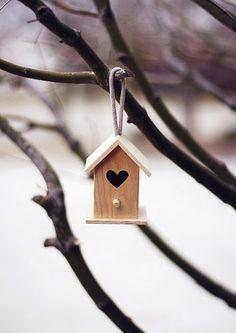 Little wooden heart house Bird Boxes, I Love Heart, Wooden Hearts, Heart Art, Little Houses, Beautiful Birds, Bird Feeders, Sweet Home, Backyard