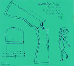 Free Simple dress pattern for Monster High doll | I think I have this already....