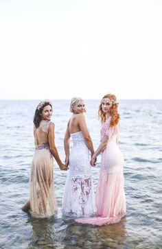 boho lace wedding dresses