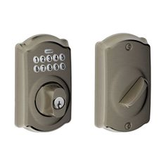Schlage BE365-CAM Camelot Electronic Keypad Single Cylinder Deadbolt