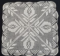 Large White Square Vintage Filet Crochet Lace Doily or Small Table Runner. Measuring 36 X 36 cm approximately Weight: 36 g In excellent vintage condition. Lace Doilies, Crochet Doilies, Crochet Lace, Crochet Bedspread Pattern, Crochet Flower Patterns, Australian Vintage, Crochet Tablecloth, Linens And Lace, Filet Crochet