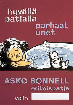 Asko Bonnell erikoispatja, hyvällä patjalla parhaat unet - Askon vanha mainos
