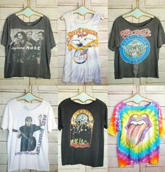 Vintage band tees! I want all of these except Paul mc cartney and Steve miller cos I don't listen to them ew