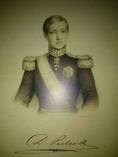 Young Dom Pedro II of Brazil, with the order of the golden fleece (tousson d'or)