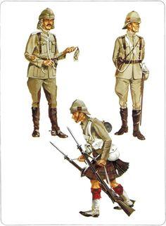 1:Sergeant-Major,21st Lancers,Sudan 1898.2:Private,Cameron Highlanders,Sudan 1898.3:Officer,Lincolnshire Regiment,Sudan 1898.