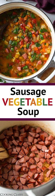 Smoked Sausage and Vegetable Soup