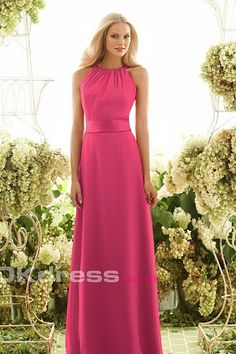 Sleeveless Sash Floor-Length 2016 Bridesmaid Dresses