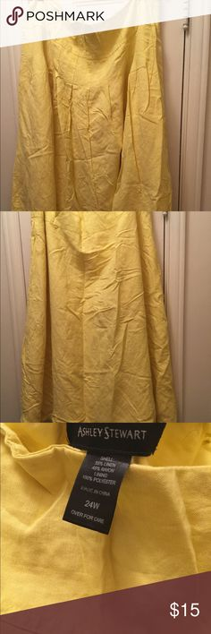 Yellow skirt Yellow skirt Ashley Stewart Skirts A-Line or Full