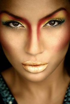 Carnival makeup.