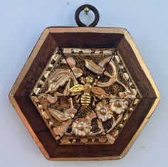 """Gilt Wooden Frame with Napoleonic Bee (3.5"""" wide)"""