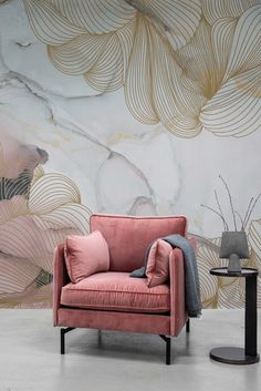 Decor, Wall Murals, Mural, Home Projects, Interior Design, Home Decor, Room, Pink Marble, Luxury Interior Design