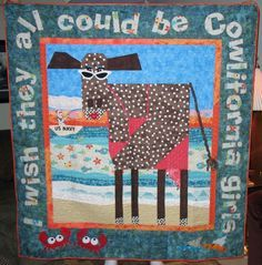 mary lou weidman cow quilts - Google Search