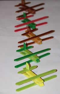 clothpin airplanes, would make a cute ornament for the Christmas tree