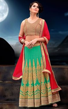 Picture of Melodic Emerald Designer Lehenga Choli