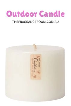 """Make a statement in your outdoor setting with this chunky round pillar candle at 6"""" x 5"""" (15.24 cm x 12.7 cm) and an amazing burn time of 150 + hours. Designed with an extra large wick to withstand windy conditions and to maximise fragrance throw."""