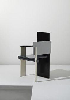"GERRIT THOMAS RIETVELD  ""Berlin"" chair, designed 1923, executed ca. 1957"