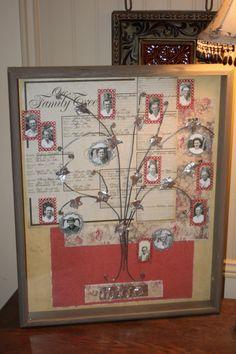 Ideas family tree ideas with photos backgrounds Family Tree Art, Free Family Tree, Diy Family Tree Project, Family Tree Photo, Family Tree Crafts, Family Tree Layout, Family Tree With Pictures, Scrapbook Wall Art, Scrapbook Layouts