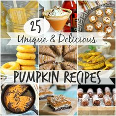 25 of the best pumpkin recipes on the internet! Unique and delicious pumpkin recipes from some of the best food blogs on the internet!