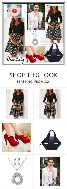 """Fashion-the dots are always in fashion..-1"" by nihada-niky ❤ liked on Polyvore featuring Rupaul and dresslily"
