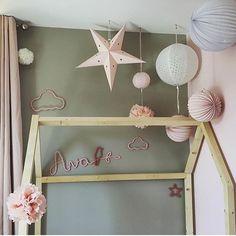 Déco de chambre fille - lampions rose vintage