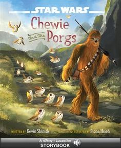 Chewie And The Porgs by Kevin Shinick, Fiona Hsieh. Part of the Star Wars: The Last Jedi series. #book #ebook #kids #juvenile #children #action #adventure #fantasy #fiction