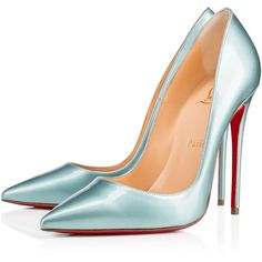 Christian Louboutin So Kate Everest Metal Patent Leather Heels in Light Blue Blue Stilettos, Blue High Heels, High Heel Pumps, Pumps Heels, Blue Pumps, Blue Shoes, Louboutin High Heels, Stiletto Shoes, Manolo Blahnik Heels