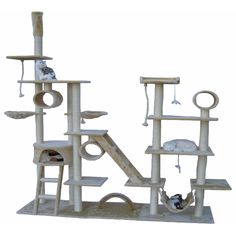 Go Pet Club Huge Gym Cat Tree Condo House Pet Furniture | Overstock.com Shopping - The Best Deals on Cat Furniture