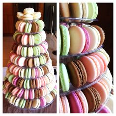 Macaron stand, choose your flavour :)  #Soirette #macaron #macarontower