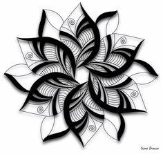 Zentangle Drawings, Zentangle Patterns, Tattoo Drawings, Body Art Tattoos, Sleeve Tattoos, Mandala Art Lesson, Mandala Drawing, Henna Designs, Tattoo Designs