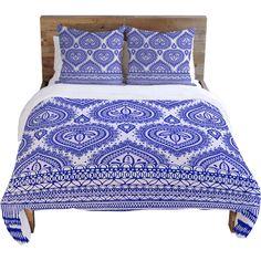 DENY Designs // Aimee St Hill Blue Decorative Duvet Cover