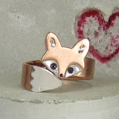 Wrap Around Baby Fox Ring