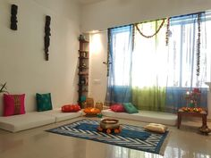 Fabulous Indian Home Decor Ideas - In recent years, ethnic home decor has become increasingly popular when deciding on a theme for decorating. Among the first of the choices in cultural. Indian Bedroom Decor, Floor Seating, Living Room Decor, Indian Room Decor, Home Decor, House Interior, House Interior Decor, Floor Seating Living Room, Home Decor Furniture